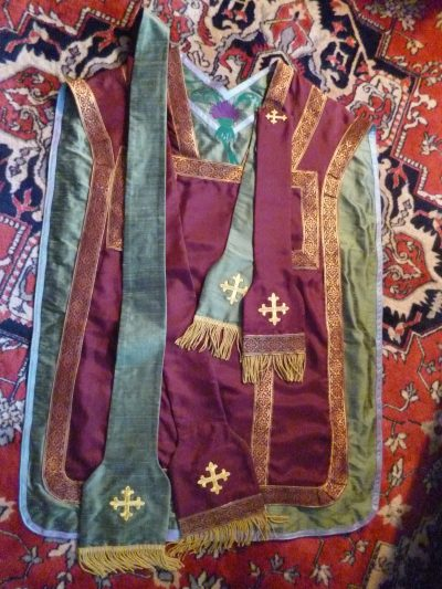Reversible silk Roman Vestment.
